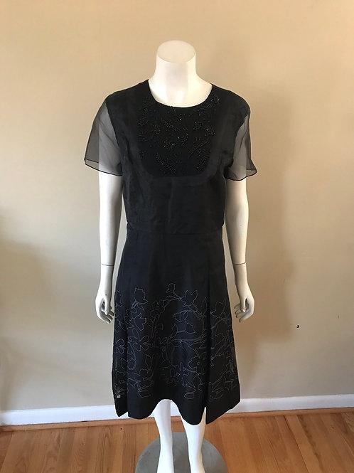 SB By Sachin & Babi Black Cocktail Dress w/ Shear Sleeves