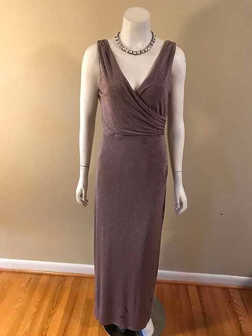 Onyx Long Gown Pink with Metallic Sparkles