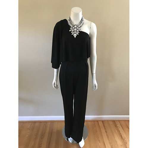 Trina Turk Black One Sleeve Jumpsuit