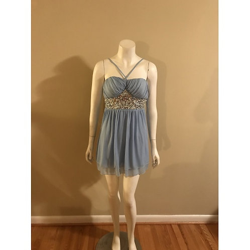 Speechless Short Rhinestone Light Blue Prom Dress