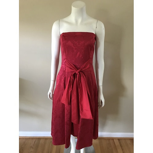 NYC Formal Wear Red Strapless Cocktail Dress