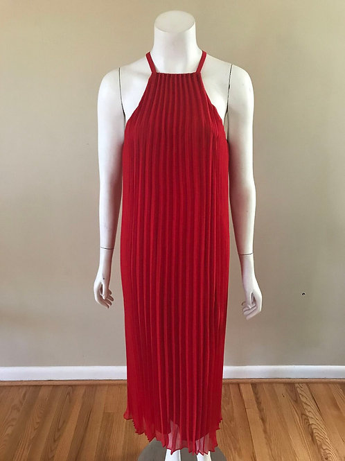 Likely Pleated Red Cocktail Dress