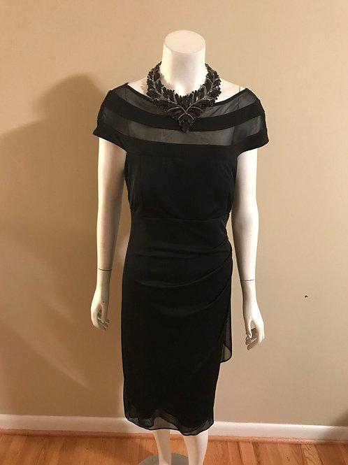 MSK Black Short Sheer Top Cocktail Dress
