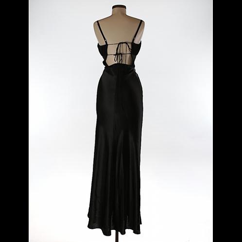 Karina Nites Long Formal Wear Black Dress