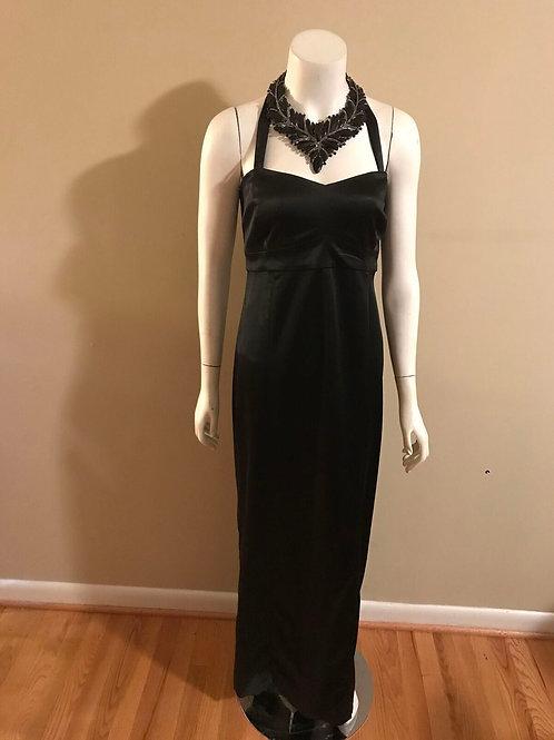 Liz Lange Long Black Cocktail Dress