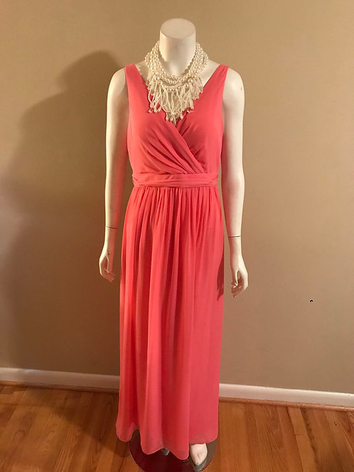 Adrianna Papell Pink Criss Cross Back Gown