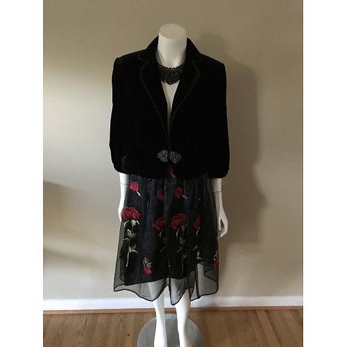 Forever 21 Floral Red and Black Sheer Skirt (SKIRT ONLY)