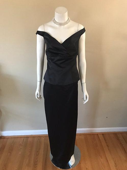 Impression 2Pc. Off the Shoulder Long Black Gown