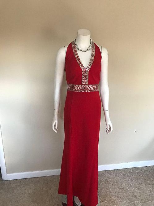 Decode 1.8 Red Halter w/ Sequin Gown