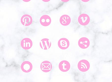 New! Custom Social Media Icons & Instagram Highlight Covers