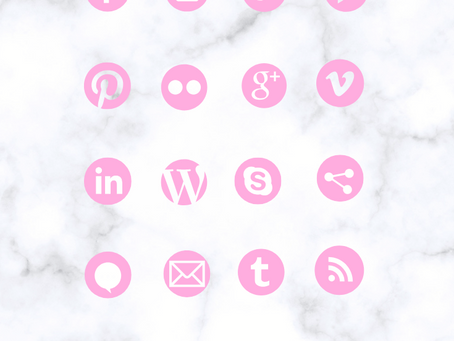 New! Custom Social Media Icons & Instagram Highlight Covers