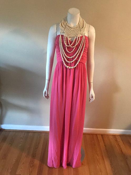 Donna Morgan Strapless Long Pink Dress