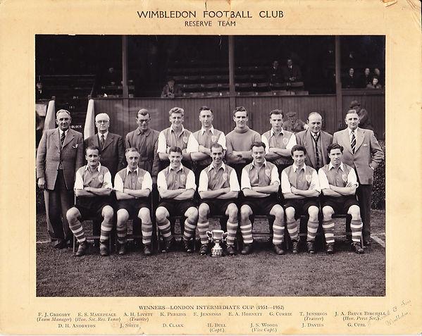 1951-52 Davies, John, Wimbledon F.C. res