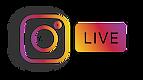 INSTAGRAM LIVE LOGO 3D DROP SHADOW