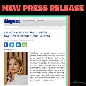 💥 New Press Release in Swiss IT Magazine 💥
