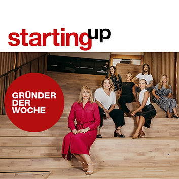 """We are extremely happy and proud that our CEO & Founder Tanja Rohark is featured in the newest """"Gründer der Woche"""" of StartingUp Magazine 🤩."""