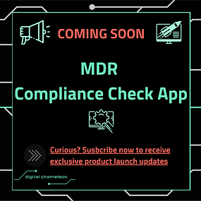 COMING 🔜: Our 🆕 MDR Compliance Check App - Getting MDR ready was never easier 👌🏼