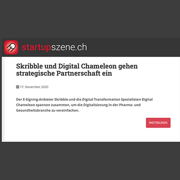 Digital Chameleon in Startupszene.ch 🚀