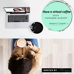 """Virtual Coffee mit Susanne Alwart zu dem Thema Weiterbildung zum """"systemischen Change- Berater"""" 💻☕️"""
