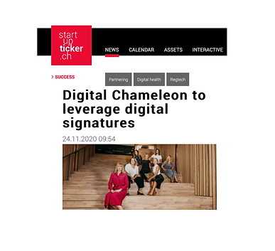 New feature article in StartUp Kicker: Digital Chameleon to leverage digital signatures 📰🔝