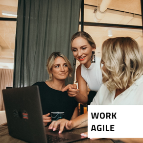 One of our (4) principles: Work Agile