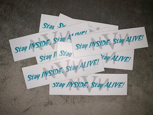#StayInsideStayAlive Sticker (Rectangle)