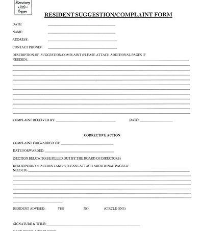 Resident SuggestionComplaint Form.JPG