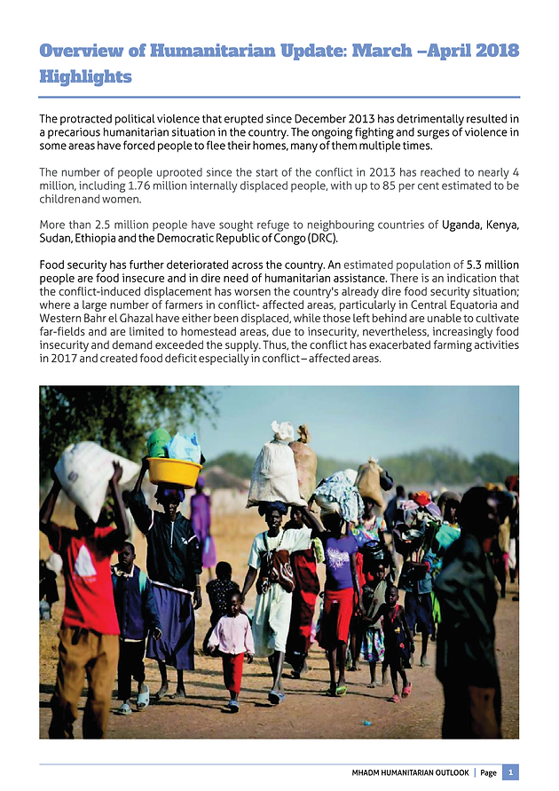MHADM Outlook 2nd edition | | MHADM | South Sudan | Government|