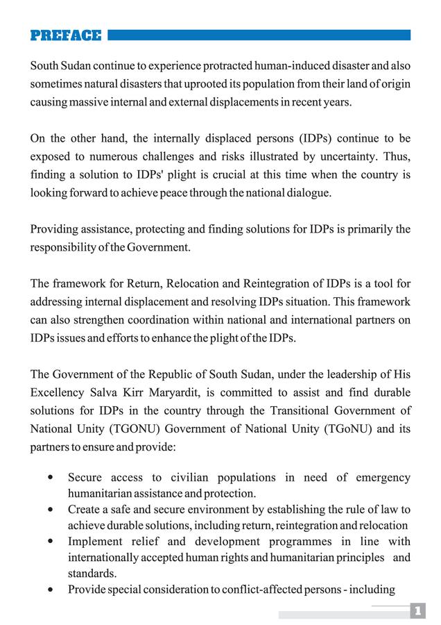 Re-posting : Framework for Return, Reintegration and