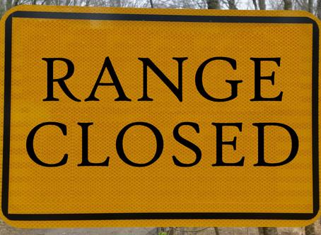 Range Closed - Sat. June 11, 2016