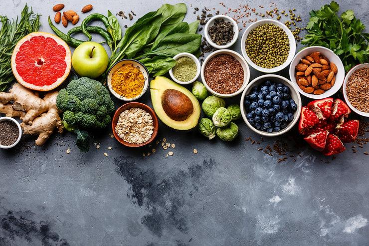 Healthy food clean eating selection: fru