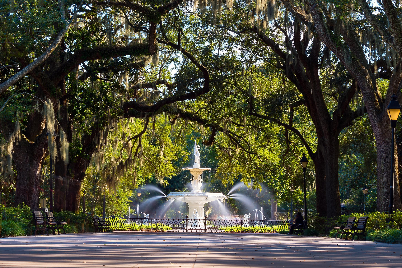 Famous historic Forsyth Fountain