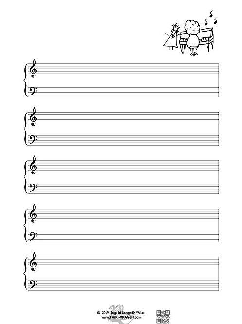 Notenpapier R9 - Klavier