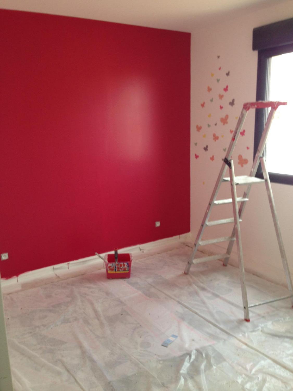 Peinture rose pailletée
