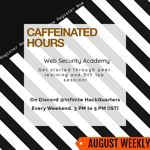 Caffeinated Hours |  August Weekly DIY Lab Sessions