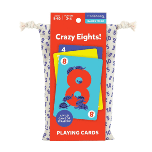 Mudpuppy - Crazy Eights - Playing Cards