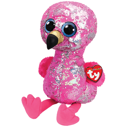 TY - Pinky Sequin Flamingo - Large