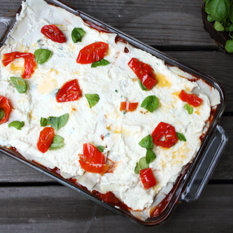 Mama Lil's Peppers Lasagna with Gluten-Free Lasagna Sheets