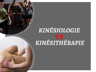 Kinésiologue VS Kinésithérapie