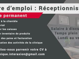 Offre d'emploi: Adjointe administrative