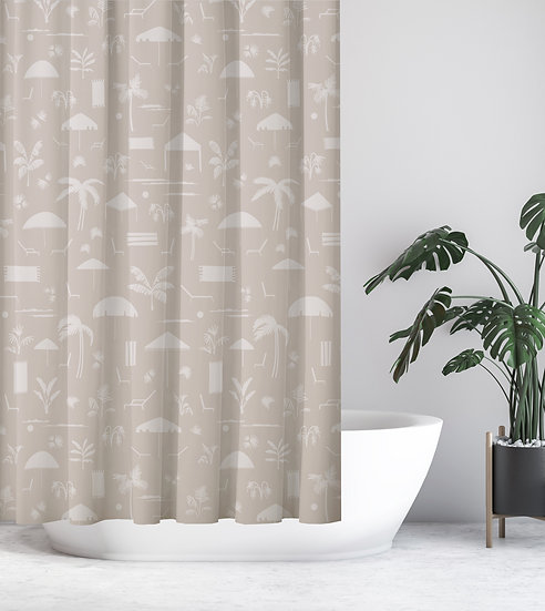 Folly Toile Shower Curtain