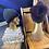 Thumbnail: eggplant & charcoal slouchy beanie set