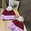 Thumbnail: red velvet beanie set w/ pom