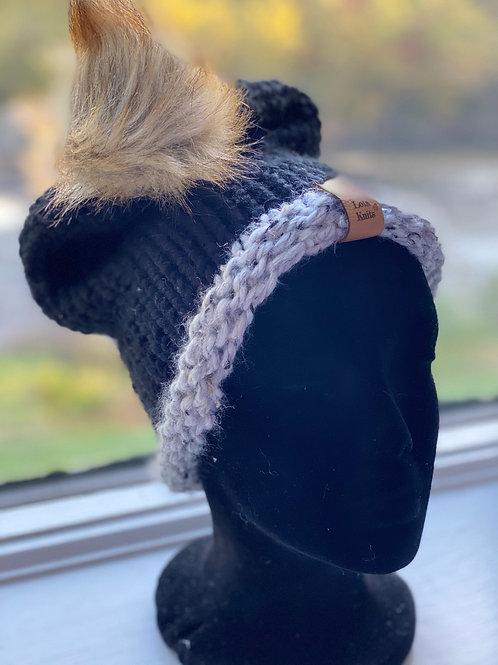 giGun hat w/pom - marble &Black