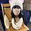 Thumbnail: pink/oatmeal cat hat & cream mini cowl