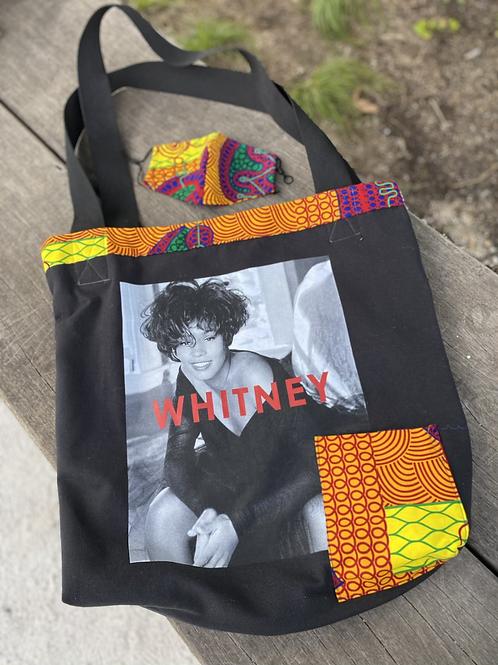 Whitney Tote w/ pockets  & matching mask