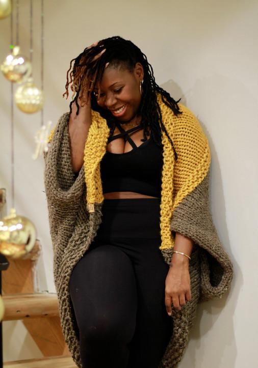 Colorblock Sweater Shrug $185