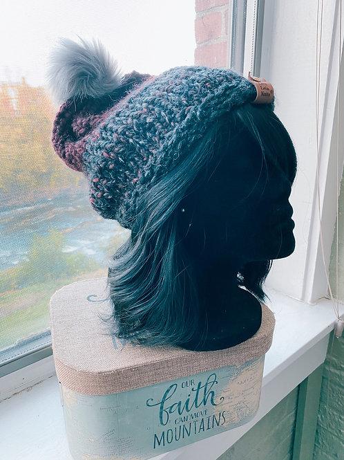 giGun hat /pom & satin lining