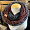 Thumbnail: charcoal double brim beanie & tri colored infinity