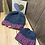 Thumbnail: fig & charcoal slouchy adult/baby beanie set